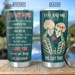 Skull Couple HHA1401008Z Stainless Steel Tumbler