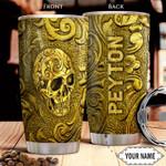 Golden Skull KD4 Personalized THA1401013Z Stainless Steel Tumbler