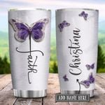 Butterfly Faith Jewelry Style Personalized KD2 HRX1401002Z Stainless Steel Tumbler