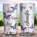 Butterfly Faith Hope Love Jewelry Style Personalized KD2 HRX1401001Z Stainless Steel Tumbler