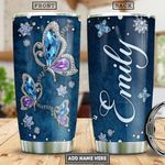 Butterfly Jewelry Style Personalized PYR1401002Z Stainless Steel Tumbler