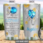 Elephant Advice Personalized NNR1401004Z Stainless Steel Tumbler
