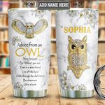 Owl Advice Jewelry Style Personalized NNR1401009Z Stainless Steel Tumbler