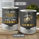 Personalized Marine Corps Guide BGZ1401022Z Full Color Ceramic Mug