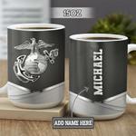 Personalized Marine Corps BGZ1401021Z Full Color Ceramic Mug