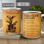 Personalized Golf Life Lessons BGZ1401020Z Full Color Ceramic Mug