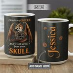 Personalized Dragon Coffee Skull BGZ1401019Z Full Color Ceramic Mug