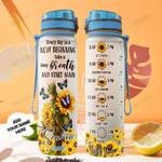 Personalized Sunflower Butterfly TTZ1401007Z Water Tracker Bottle