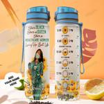Personalized Sunflower Black Nurse TTZ1401006Z Water Tracker Bottle