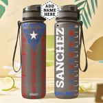 Personalized Puerto Rico Symbols HLZ1401013Z Black Water Tracker Bottle
