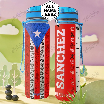 Personalized Puerto Rico HLZ1401005Z Water Tracker Bottle