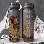 Personalized Horse TTZ1401011Z Black Water Tracker Bottle