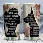 Wooden Style A Girl And Her German Shepherd KD2 HNL0501007Z Stainless Steel Tumbler