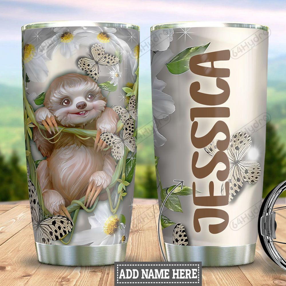 Personalized Sloth Face HLM1501004Z Stainless Steel Tumbler