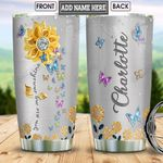 Butterfly Personalized NNR1501003Z Stainless Steel Tumbler