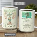 Personalized Hippie Tree Of Life BGZ1501014Z Full Color Ceramic Mug