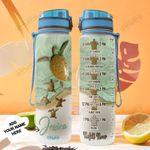 Personalized Turtle Mom And Baby TTZ1501006Z Water Tracker Bottle