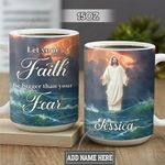 Personalized Faith Jesus TTZ1501012Z Full Color Ceramic Mug