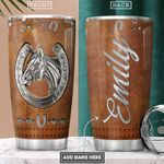 Horse Jewelry Leather Style Personalized PYR1501006Z Stainless Steel Tumbler