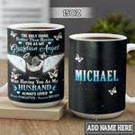 Personalized Widow Guardian Angel HLM1301006Z Full Color Ceramic Mug