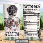 Personalized Tattoo Woman Back HLM1301009Z Stainless Steel Tumbler