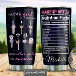 Personalized Makeup Artist Nutrition Facts DNM1401007Z Stainless Steel Tumbler