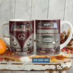 Red Retro Hippie Van Personalized KD2 HAL1501015Z Full Color Ceramic Mug