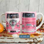 Hippie Van Pink OK Personalized KD2 HAL1501009Z Full Color Ceramic Mug