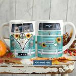 Flower Pug In Hippie Van Personalized KD2 HAL1501008Z Full Color Ceramic Mug