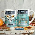 Be Kind Hippie Van Personalized KD2 HAL1501001Z Full Color Ceramic Mug