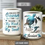 Personalized Ocean Turtle TTZ1801010Z Full Color Ceramic Mug