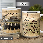 Personalized Cow Gate Open TTZ1801005Z Full Color Ceramic Mug