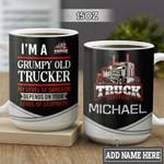 Personalized Grumpy Old Trucker HLZ1801008Z Full Color Ceramic Mug