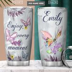 Butterfly Crystal Style Personalized PYR1801005Z Stainless Steel Tumbler