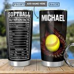 Softball Facts Personalized HHA1801016Z Stainless Steel Tumbler