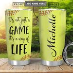 Softball KD4 Personalized HHA1801018Z Stainless Steel Tumbler