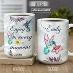 Hummingbird Crystal Style Personalized PYR1801001Z Full Color Ceramic Mug