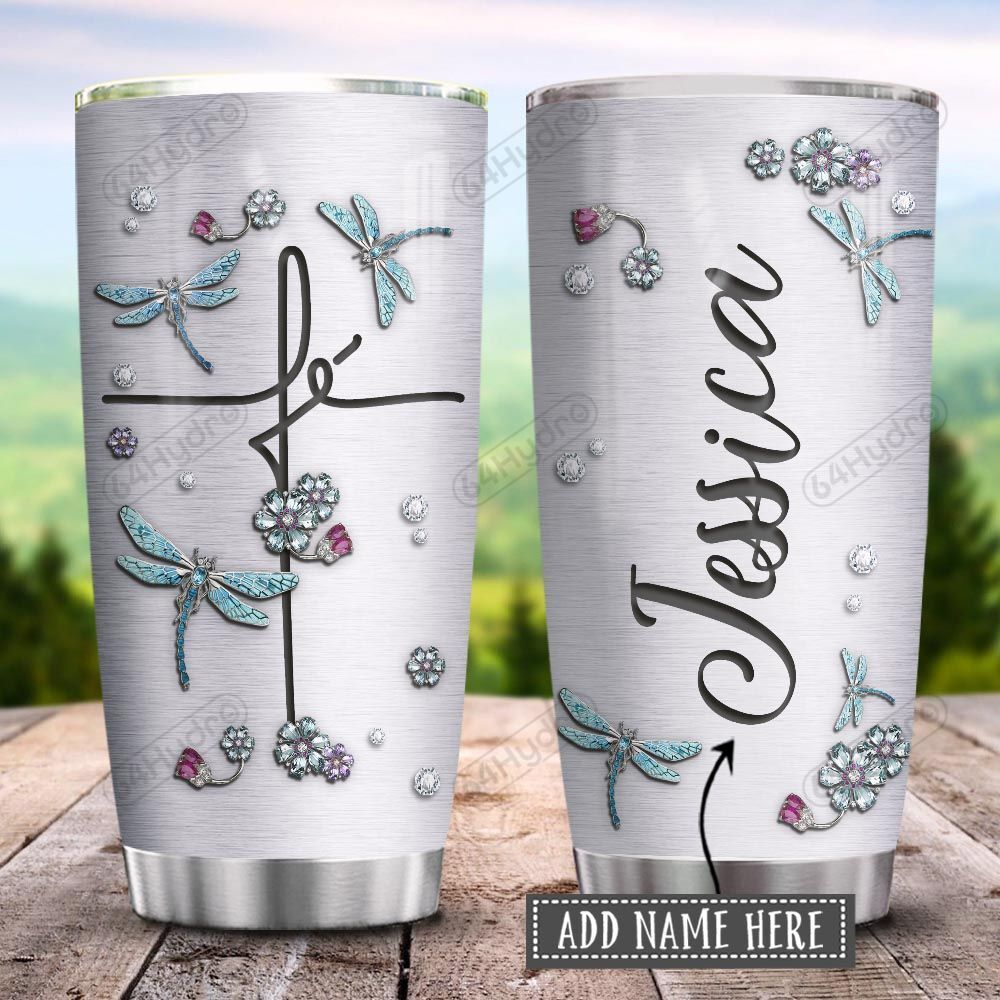 Dragonfly Fe Jewelry Style Personalized KD2 HRX1801004Z Stainless Steel Tumbler
