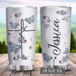Butterfly Fe Jewelry Style Personalized KD2 HRX1801001Z Stainless Steel Tumbler