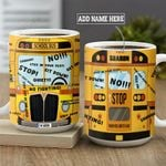 Cartoon Style Funny School Bus Personalized KD2 MAL1801005Z Full Color Ceramic Mug
