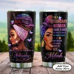 Black Women February Personalized KD2 HAL1801019Z Stainless Steel Tumbler