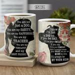 Wooden Style A Girl And Her Pitbull KD2 HNL1801018Z Full Color Ceramic Mug