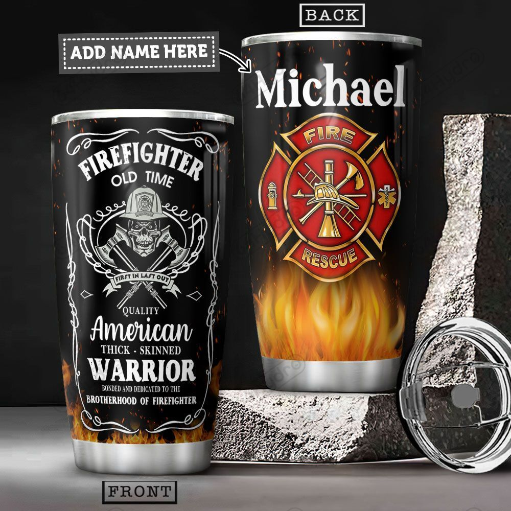 Firefighter KD4 Personalized HHA1901007Z Stainless Steel Tumbler
