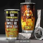 Firefighter Bible KD4 Personalized HHA1901003Z Stainless Steel Tumbler