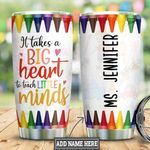 Personalized Teacher Big Heart HLM1901014Z Stainless Steel Tumbler