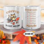 Personalized Cat Coffee DNM1901001Z Full Color Ceramic Mug