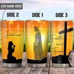 Personalized Faith Jesus HLM1901007Z Stainless Steel Tumbler