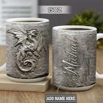 Personalized Dragon Fossil TTZ1901012Z Full Color Ceramic Mug