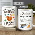 Personalized Chickens Farmer Checklist BGZ1901002Z Full Color Ceramic Mug