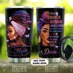 Black March Woman Personalized KD2 HAL1901006Z Stainless Steel Tumbler